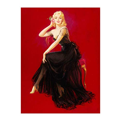 Paint By NumbersNumber Painting Gifts Sexy Pin Up Display Princess Suitable for, living room, study, children's room-40x50cm-No Frame