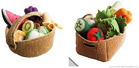 Ikea Duktig Children's 9 Piece Fruit Basket Set and 14 Piece Vegetable Set