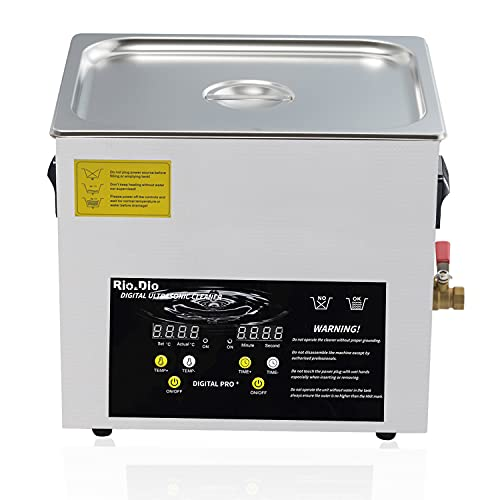 Ultrasonic Cleaner 10L Lab Ultrasonic Carburetor Jewelry Dental Small Parts Circuit Board Instrument...