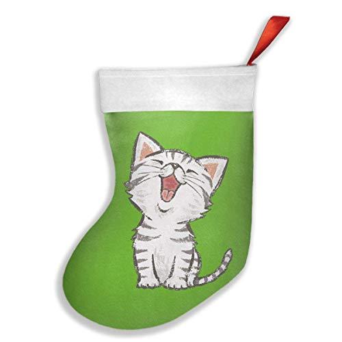 FASHION Hanging Stocking Bag,Jackalope-puff Christmas Sock Gift Bag Tree Ornament,Christmas Decor Gift Storage with Loop to Hang