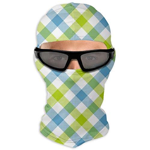 NB Outdoor-Sonnenschutz-Handtuch, weiß, grün, blau, kariert, Textur, Kapuze, Sonnenschutz, doppellagig, kalt für Männer und Frauen