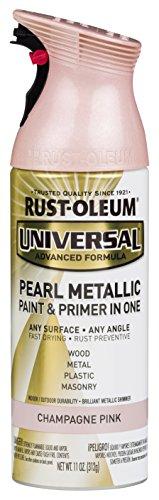 Rust-Oleum 301537 Surface, 11 oz, Champagne Pink Universal Pearl Metallic Spray Paint