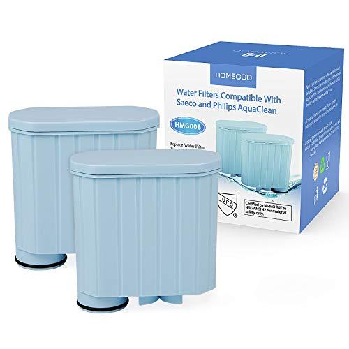 Kaffeefilter kompatibel mit Philips AquaClean, Homegoo Aktivkohleenthärter Wasserfilter Kalkschutzfilter kompatibel mit CA6903 / 10/00 / 01/22 / 47 (2 Stück)