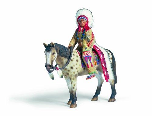 SCHLEICH 70300  - Indianer, Sioux Häuptling auf Pferd
