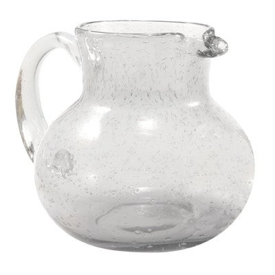 Artland Iris Clear Seeded Glass Pitcher, 90 Ounce