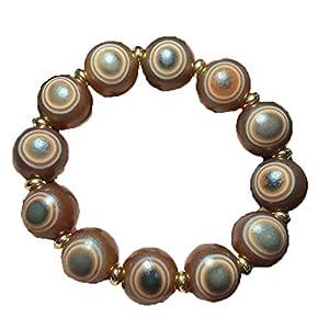 ZHIBO Tibet Roter Achat Schafauge Dzi Perlen Armband