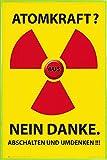 1art1 Atomkraft Poster und Kunststoff-Rahmen - Atomkraft