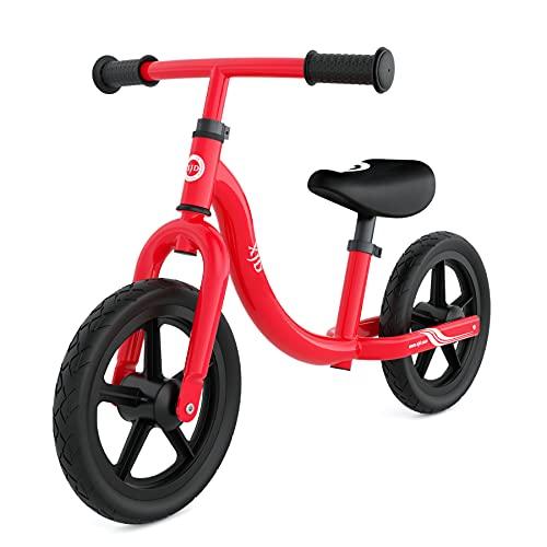 XJD キックバイク バイク子供用 ペダルなし自転車 1.5歳 ~5歳対象 おもちゃ 超軽量 高さ調整可 乗用玩具 組み立て簡単 ノンパンクタイヤ (レッド)
