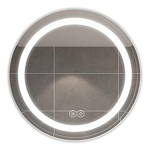 Badrum LED Rund spegelskåp, väggmonterad förvaringsskåp, vägghängande skåp med ljus, medicinskåp med spegel (Color : Silver, Size : 63 * 15 * 63cm)