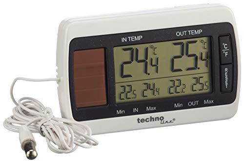 Technoline Thermometer mit Kabelsonde WS 7008 sowie Temperaturanzeige, Luftfeuchteanzeige und Solarbetrieb