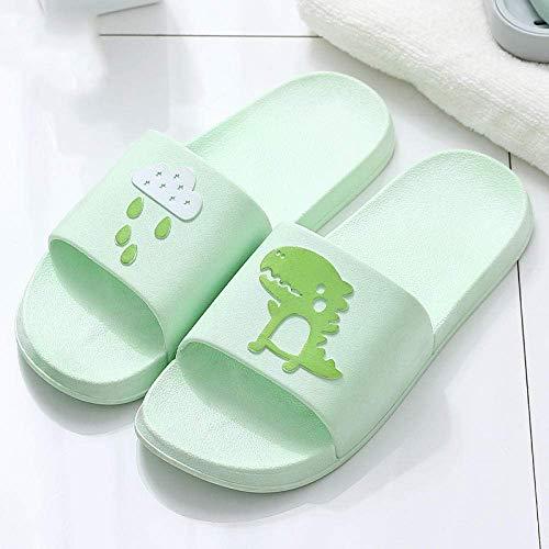 Zapatos de playa, ducha, gimnasio, chanclas antideslizantes para baño, zapatillas de baño, zapatillas de suela suave, 37-38_verde manzana, suelas gruesas fangkai77