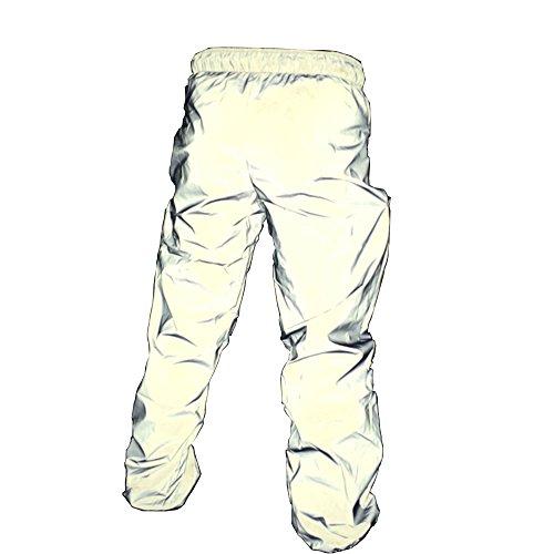 NEWL Uomo pantaloni Alta visibilità Riflettente Leggera e Traspirante Adatta a Corsa, Jogging, Ciclismo e Tanto Altro