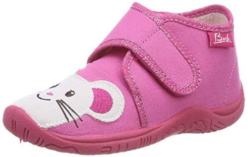 Beck Mädchen Mäusle Hohe Hausschuhe, Pink (Pink 06), 24 EU