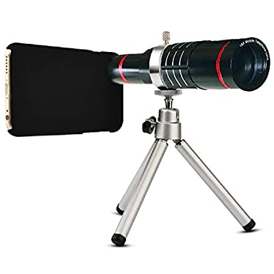 Youniker Optical Camera Lens Kit for iPhone 6 Plus,18x Manual Focus Telephoto Lens for iPhone 6S Plus,Including 18x Aluminum Zoom Telescope Camera Lens With Tripod