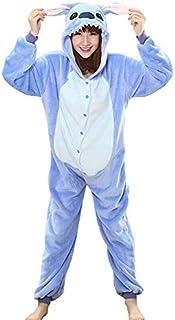 GulfDealz Stitch Anime One Piece Animal Costume, Unisex Adult Plush Cosplay Pajamas, Hooded with Long Sleeves Costume (Sma...