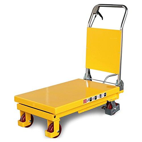 Fahrbarer Hubtisch 500 kg, 900 mm Hubhöhe, 855 x 500 mm Plattform