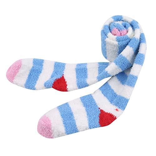 SEVENHOPE Teen Girls Stripe Tube Kleider Overknee Overknee Strümpfe Cosplay Socken Requisiten