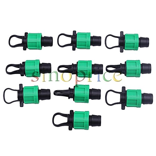 10pcs 16mm Green Drip Irrigation Fitting Tape Coupling Connectors With Pull Plug