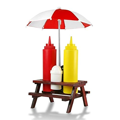 Set de condimentos sal de mesa de picnic