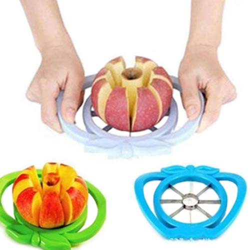 topxingch Stainless Steel Wedge and Pop Apple and Pear Slicer, 8 Slices, Attached Safety Cover Protect Fingers