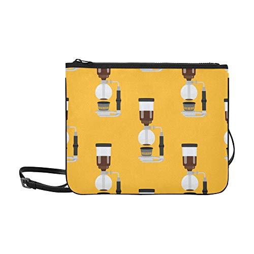 Weibliche Clutch Bag Nette Cartoon Kaffeemaschine Werkzeug verstellbare Schultergurt Mädchen Mode Taschen für Frauen Mädchen Damen Handtasche Kinder Umhängetasche Mode