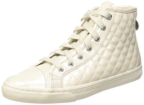 Geox D New Club A, Sneakers Alte da Donna, Bianco (Bianco C1002), 38 EU