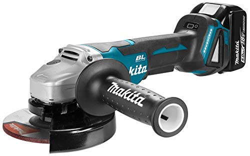 Makita DGA505RTJ 18V Li-Ion Accu haakse slijper set (2x 5.0Ah accu) in Mbox - 125mm - koolborstelloos - softstart