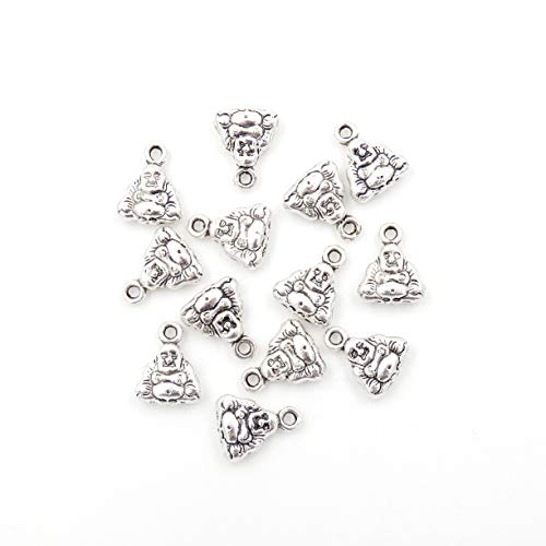 Malahill Charms for Jewelry Making Jewelry findings Charms for Bracelet Necklace Earrings, 100pcs Buddha Charms 10x12mm