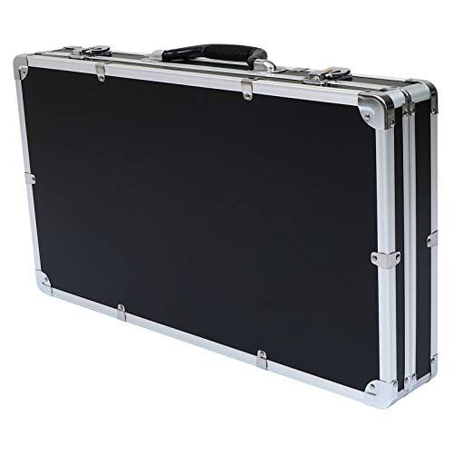 Housoutil Caja de Herramientas de Aluminio Caja de Herramientas de Mano de Inserción de Espuma Maleta Caja de Contraseña Organizador de Herramientas 12