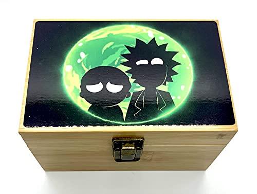 Medium Size Bamboo Box Storage Organizer Stash Box - color design