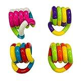 herommy Dedo Mano Enredos Juguete, Alivio del Estrés Sensación De Alivio Toy Sensory Fidget Twist Toy Toy Twister Fidget Juguete Mano-Eye Coordinación Toy 4pcs