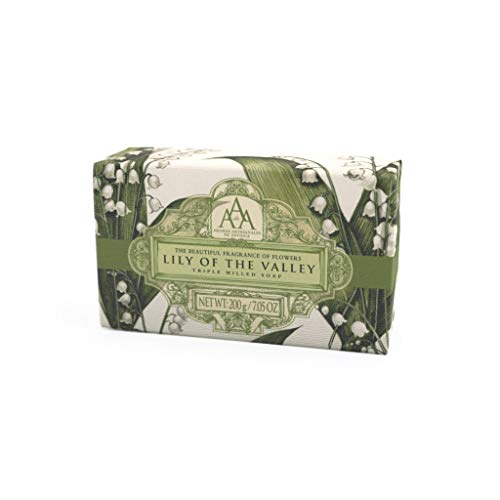 AAA Floral - Triple-Milled Luxury Soap Bar - Lily of the Valley - 200 g / 7 oz (SLS and Paraben Free)