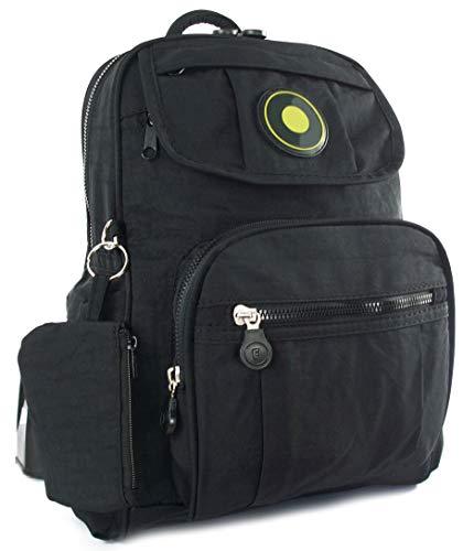 GFM Fastglas GFM Fashion Petit sac à dos léger en tissu usage quotidien, les voyages, les Loisirs, etc. - Noir - petit