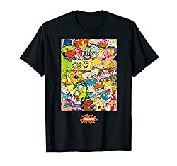 Back to school checklist, Group shot center square all 90s character t shirt