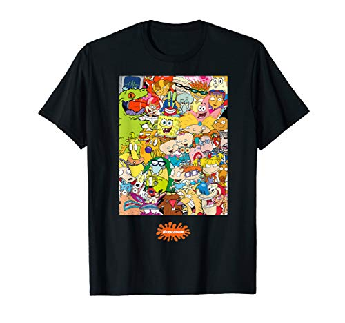 Group Shot Center Square All 90s Characters T-Shirt