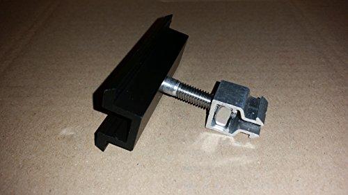 PROFINESS KlickFix-Modul-Mittelklemme schwarz eloxiert, komplett vormontiert zur Befestigung von Photovoltaik-Modulen mit schwarzem Rahmen, Rahmenstärke 36-45mm