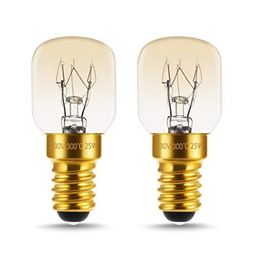 LOHAS Ampoule Four 25W E14 Ampoule Pygmées Dimmable Culot E14 Résistant jusqu'à 300° C Lumiere pour Au Four/Four à micro-ondes/Réfrigérateur 250lm Angle de Faisceau de 360° 220V - 240V Lot de 2