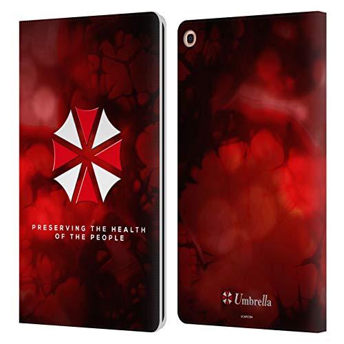 Head Case Designs Offizielle Resident Evil Regenschirm Logo Leder Brieftaschen Huelle kompatibel mit Samsung Galaxy Tab A 10.1 2019