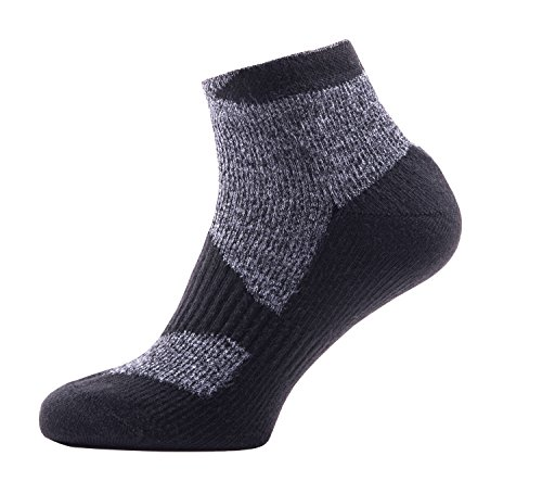 SealSkinz Walking Thin Socklet Socken, Dark Grey/Black, XL