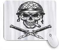 MISCERY マウスパッド 兵士喫煙葉巻ヘルメットベクトル人気 高級感 おしゃれ 防水 端ステッチ 耐久性が良い 滑らかな表面 滑り止めゴム底 24cmx20cm