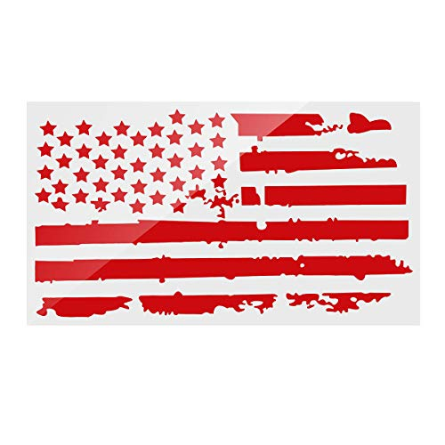 Viviance 20X35 inch Usa Flag Car Hood Sticker Vinyl Auto Cover Truck Decals Universal