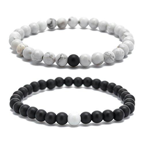 Afstand Armbanden Sterke Elastische Vriendschap Relatie Liefhebbers Armbanden Zijn & Haar 6mm Kralen Paar Armbanden