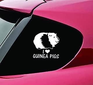 Slap-Art I Love Guinea Pigs Vinyl Decal Sticker Funny