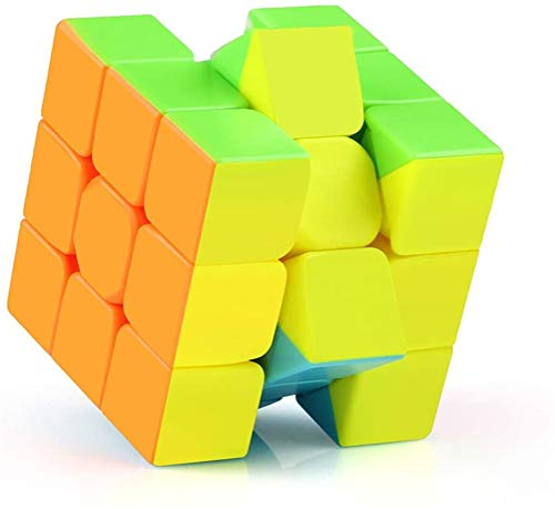 Cube Beroep 3x3x3 Maigic Cube - Fast Smooth Draaien - Solid Duurzame stickerloze Frosted, 3D Puzzel Magic Toy - Turns sneller dan Original