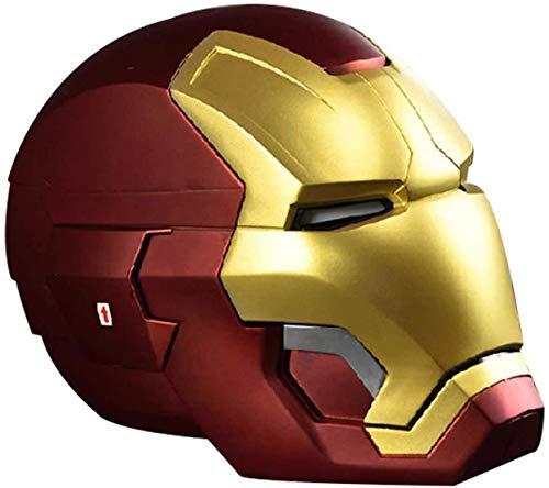 XDHN Máscara De Casco Electrónico De Metal De Iron Man, Marvel Avengers 4 Superhero Cascos De Cabeza Completa Máscaras Película De Halloween Cosplay Deluxe Edition, F/A, E/B