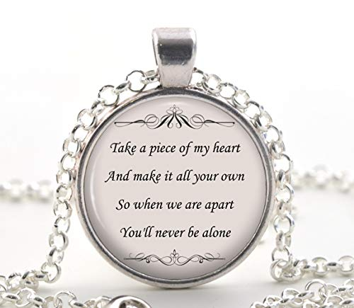 Shawn Mendes Song Lyric Quote Necklace - Never Be Alone Friendship Romantic Jewelry
