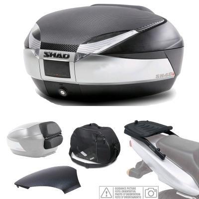 Tuning Kit und Koffer Titan Rücken + Rückenlehne + Tasche + Abdeckung SH48 YAMAHA MT 03 ´15