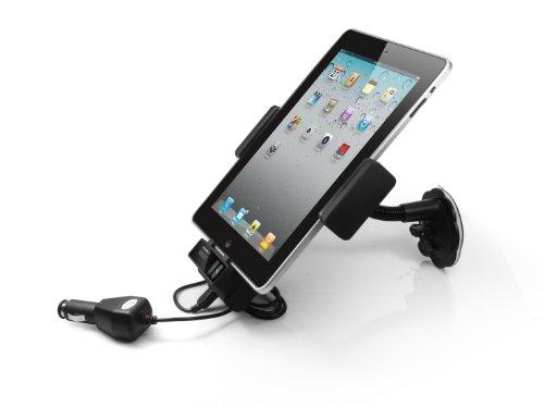 Technaxx FM-Transmitter mit Autohalterung und Freisprecheinrichtung (OLED Display, Bluetooth, USB Slot, 3,5 mm Klinkenanschluss) schwarz