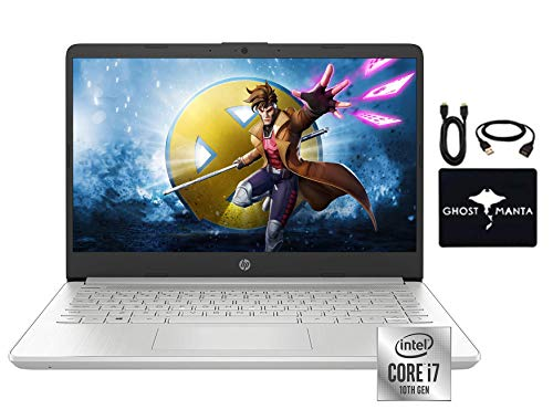 "2020 Newest HP 14"" FHD IPS Display Laptop Notebook (1920 x1080), Intel Quad-Core i7-1065G7 (Up to 3.9GHz,Beat i9-8950HK),16GB RAM, 512GB PCIe SSD, Intel Iris Graphics, Webcam, Win10,w/GM Accessories"