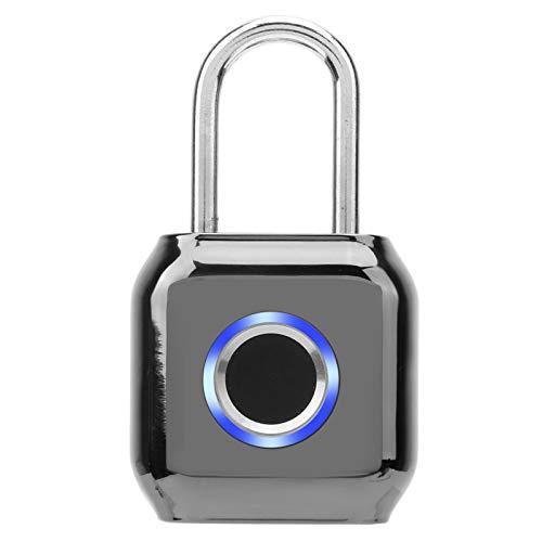 Sturdy Fingerprint Padlock,Multifunctional USB Charging IP66 Waterproof Electronic Padlock Anti-Theft Security Padlock for Cabinet Backpack Suitcase